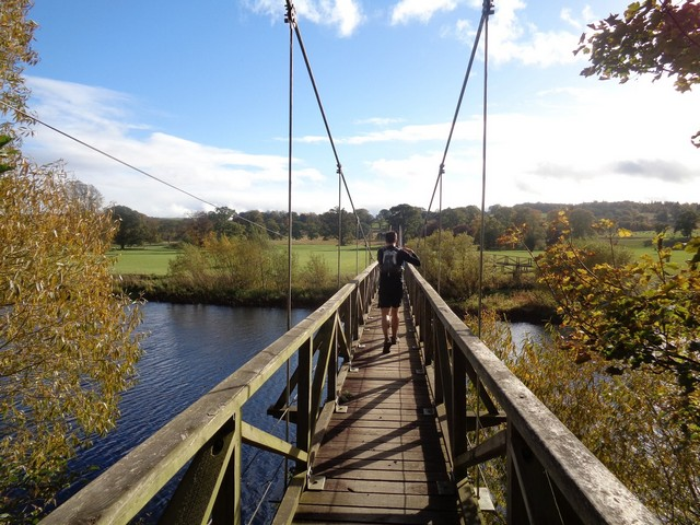 Suspension bridge over the River Teviot