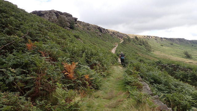 The climb to Stanage Edge
